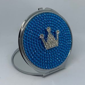 Accessories - Crown Rhinestone Compact Dual Mirror Crystal Bling